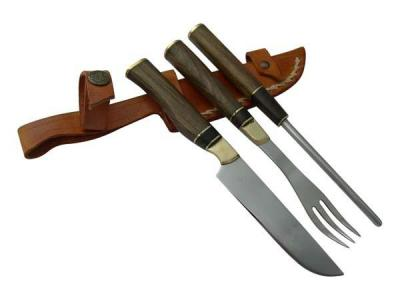 SET TRIPLE MINI KNIFE, FORK AND CHAIRA