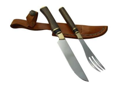 SET J COMMON WOODEN KNIFE AND FORK