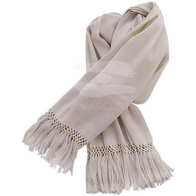 Fine Scarf of  Vicu�a with braid in the end