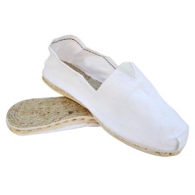 ESPADRILLES IN CANVAS AND JUTE